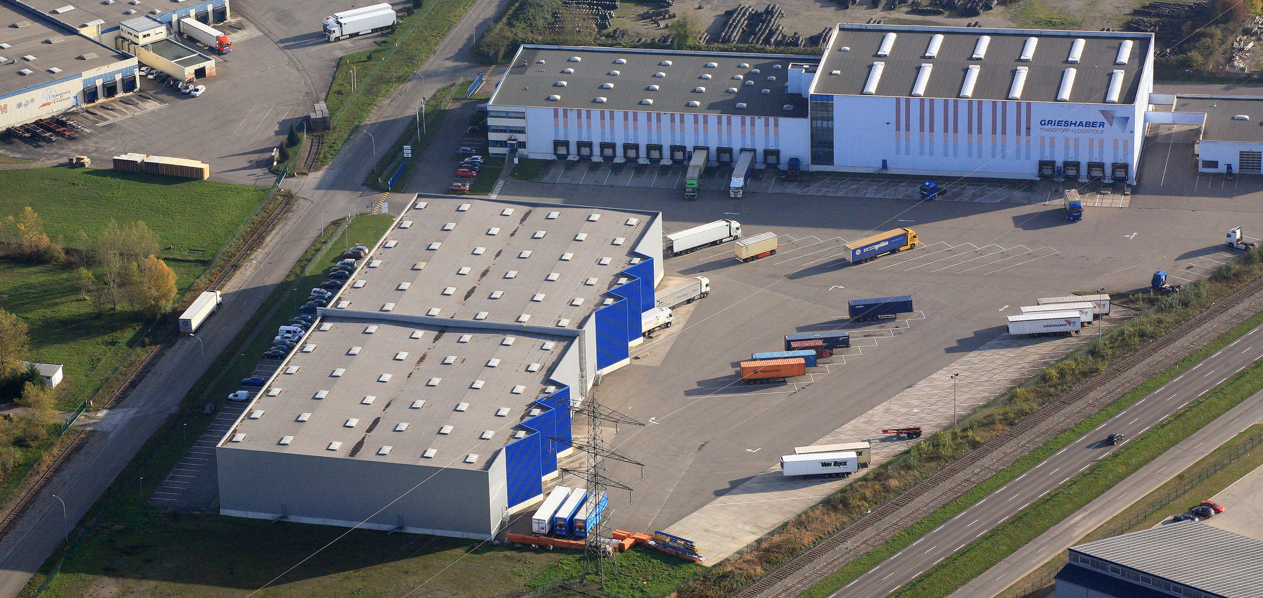 Liegenschaft der Grieshaber Logistics Group in Hombourg
